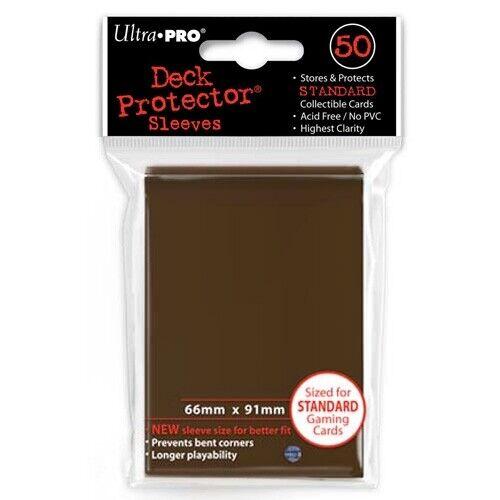 50 Ultra Pro BROWN Deck Protector Standard Card SLEEVES MTG Magic Pokemon 84027