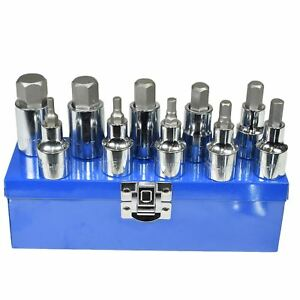 1-2-034-Unidad-Hexagonal-Llave-Allen-Bits-Socket-Set-Tamanos-metricos-4mm-19mm-AT659