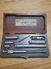 Vintage Estate Antique Starrett Inside Micrometer Set Machinist No 823 A