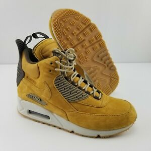 Details about Nike Air Max 90 Sneakerboot Winter Waterproof Wheat 684714 700 Mens Size 6 NEW