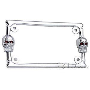 image is loading 3d skull bone chrome metal motorcycle license plate - Harley Davidson License Plate Frame For Motorcycle