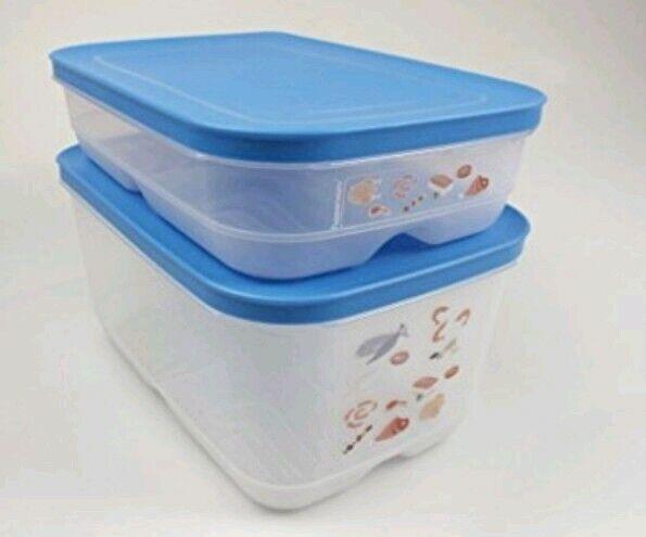TUPPERWARE KlimaOase     Frischebehälter für Fleisch und Fisch 2er Set  Neu  d133de
