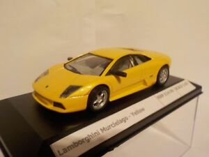Lamborghini-Murcielago-Amarillo-Diecast-Escala-1-43-Modelo-de-Metal