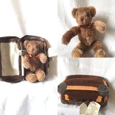 Aspirante Russ Berrie Ritirato Nº 97729 Teddy In Feltro Valigia-mostra Il Titolo Originale