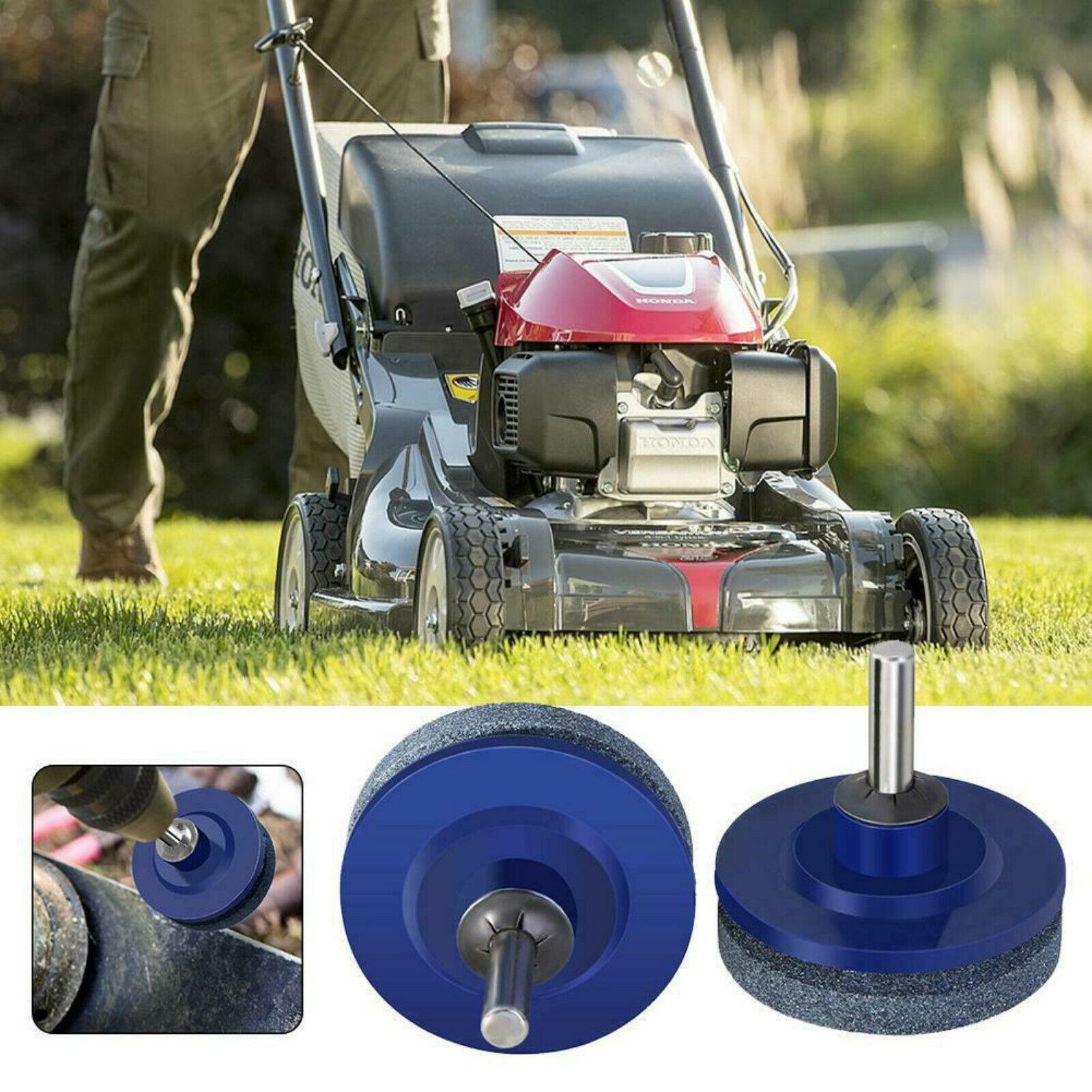 Universal Lawn Mower Faster Blade Sharpener Grinding Drill Garden Power Kit D9Z1