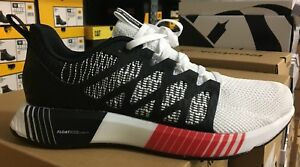 Reebok Fusion Flexweave Cage Men s Running Shoes Black White Red ... 0527d6bfc