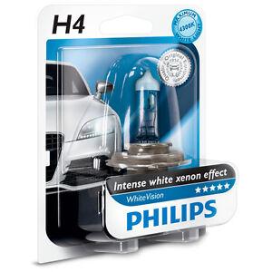 philips h4 whitevision headlight bulb 12v 60 55w 12342whb1 1 pack ebay. Black Bedroom Furniture Sets. Home Design Ideas