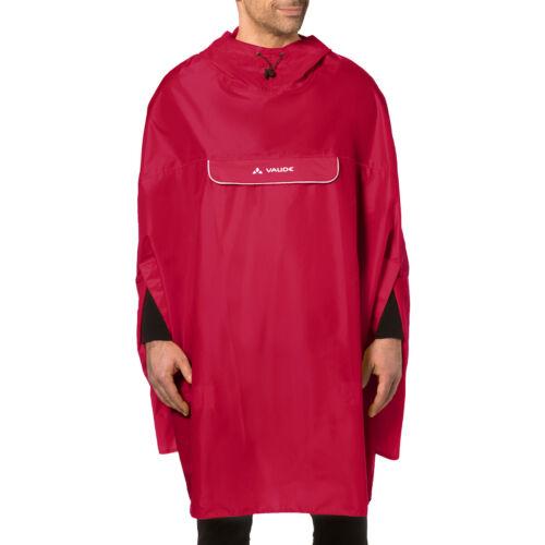Vaude Valdipino Biking Rain Poncho Red