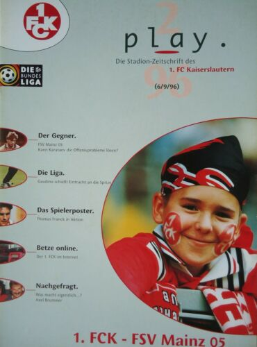 FSV Mainz FC Kaiserslautern Programm 1996//97 1