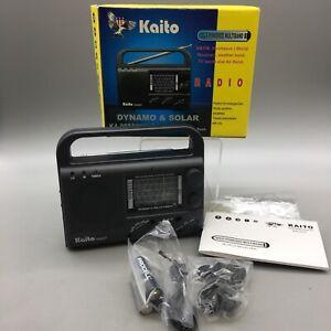 KAITO KA-007 Solar Crank AM/FM/SW/TV/Weather Radio w/ Box - Fast Shipping - E16