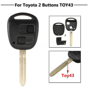 2-Button-Remote-Key-Case-Fob-amp-Blade-Toy43-For-Toyota-Camry-Celica-Colorado-RAV4