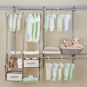 Image Is Loading 24 Piece Nursery Closet Organizer Baby Clothes Accessories