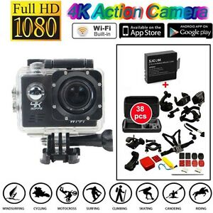 SJ8000 4K 30 fps Sony IMX179 WiFi Action Camera+38 in1 Accessories+Extra Battery