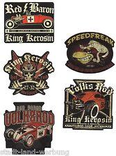 33 King Kerosin Set Red Baron Adesivo/Sticker/Rockabilly/Hot Rod/oldschool/v8