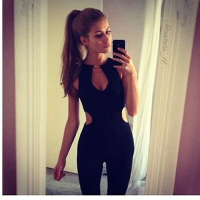 New Sexy Women Sleeveless Bodycon Jumpsuit Romper Trousers Clubwear Pants C0022