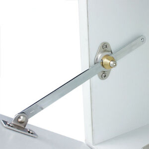Image is loading 2-X-Steel-Kitchen-Cabinet-Cupboard-Flap-Door-  sc 1 st  eBay & 2 X Steel Kitchen Cabinet Cupboard Flap Door Stay Hinge Lift Down ...