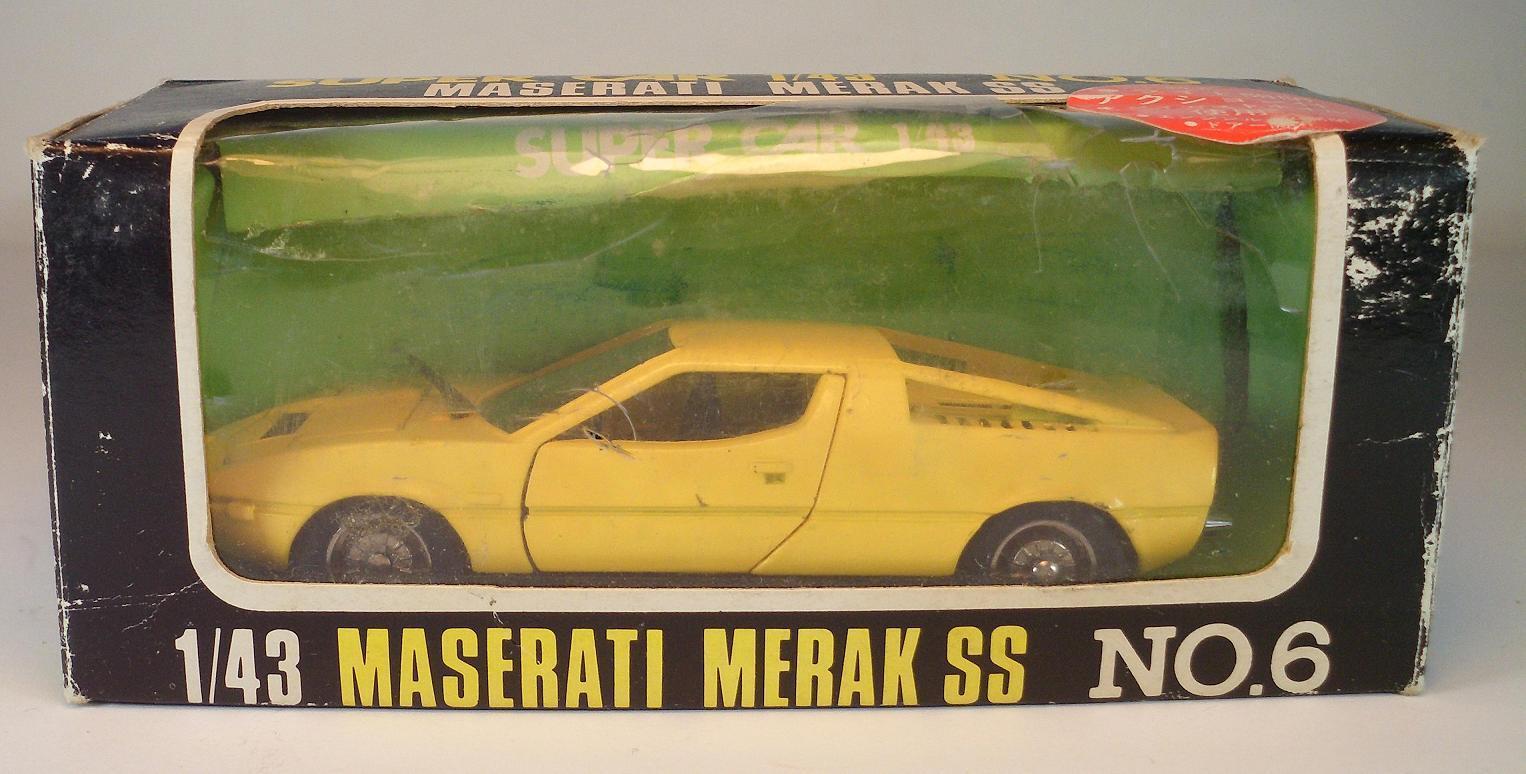 Asakusabashi 1   43 super auto nr. 6 maserati merak ss gelb ovp   087
