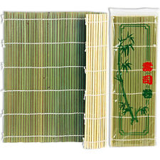 """Japanese Natural Flat Bamboo Stick Sushi Roll Roller Mat 10-5/8"""" (27cm) Square"""