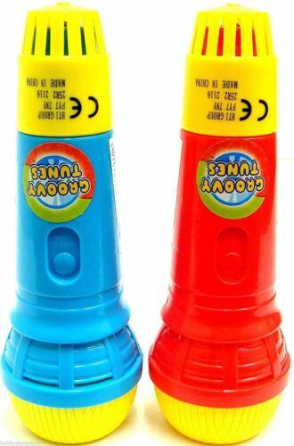 Groovy Tunes Echo Mike Microphone Mic Voice Changer rouge//bleu 1 x aléatoire