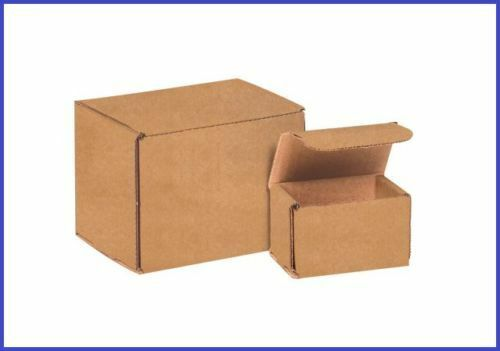 50 Pack - Kraft Corrugated Brown Mailer Shipping Boxes - 46 Sizes Available