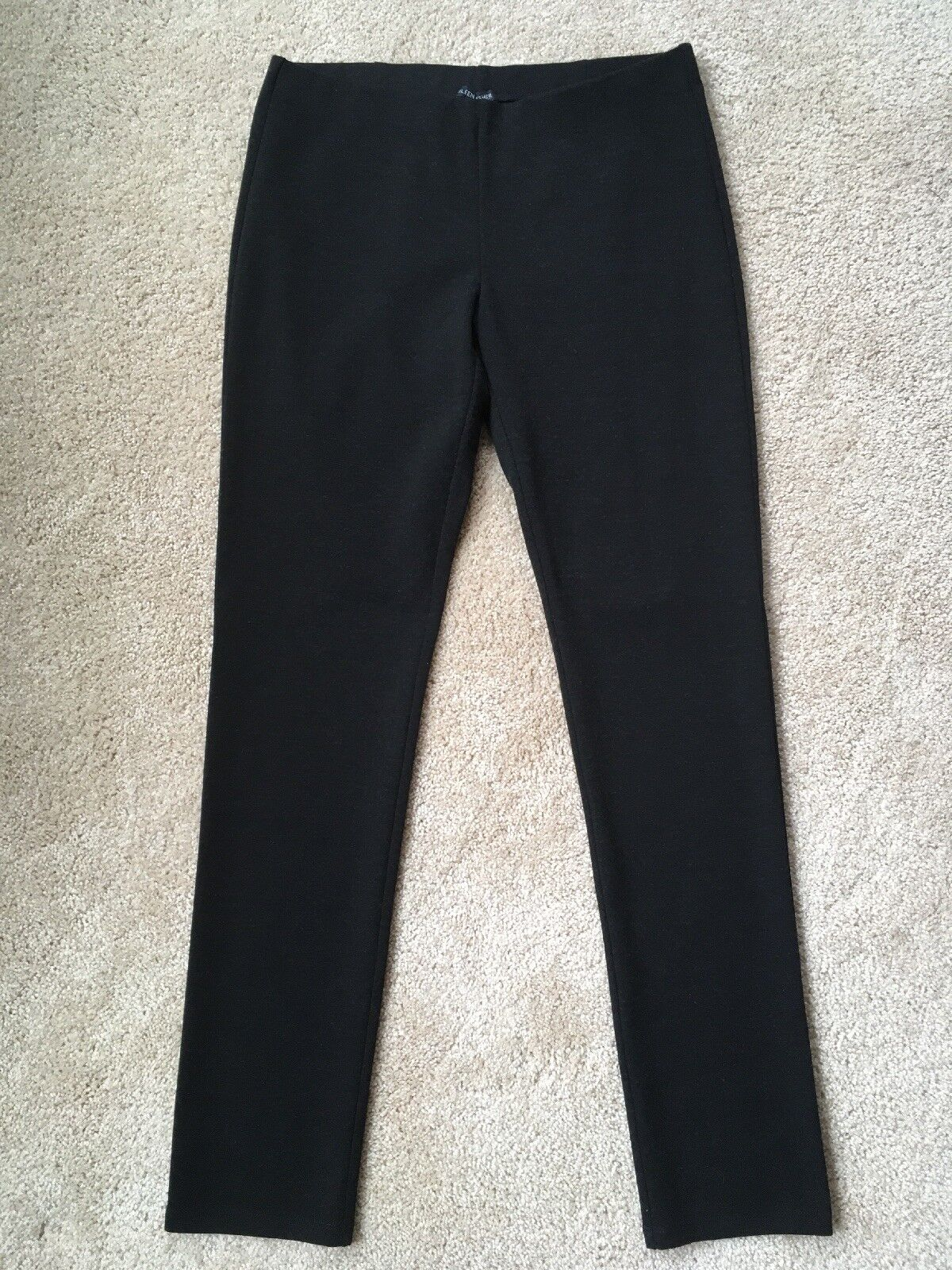 NWT EILEEN FISHER Charcoal Slim Pant Melange Viscose Stretch Pointe Sz Small
