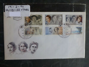 1991-ISRAEL-ANNIVERSARIES-WOMEN-SET-3-STAMPS-W-TAB-FIRST-DAY-COVER
