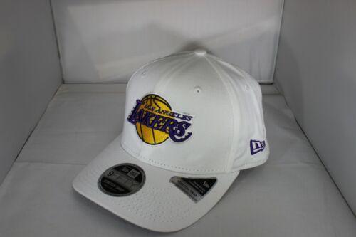 BNWT White New Era Stretch Snap 9Fifty Los Angeles Lakers  Snapback Cap