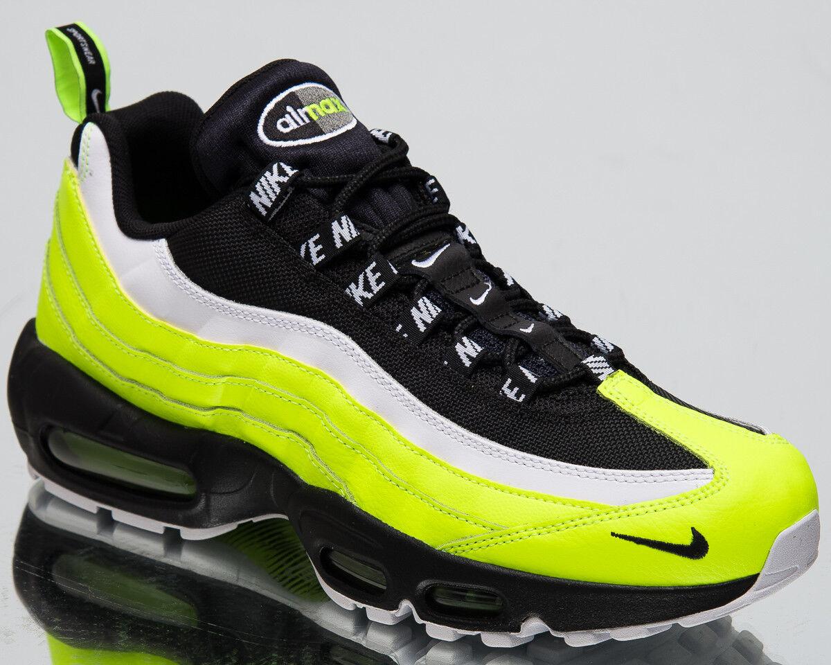 Nike Air Max 95 Premium Herren Neu Lifestyle Schuhe Volt Schwarz Turnschuhe