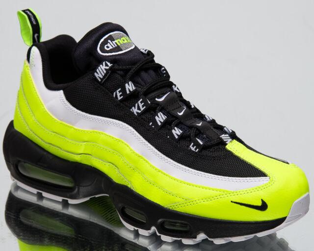 d942155cd4b5c4 Nike Air Max 95 Premium Men s New Lifestyle Shoes Volt Black Sneakers  538416-701