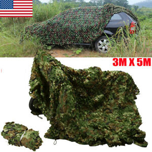 10x16-5FT-Woodland-Camouflage-Netting-Army-Camo-Hunting-Shooting-Hide-Cover-Net