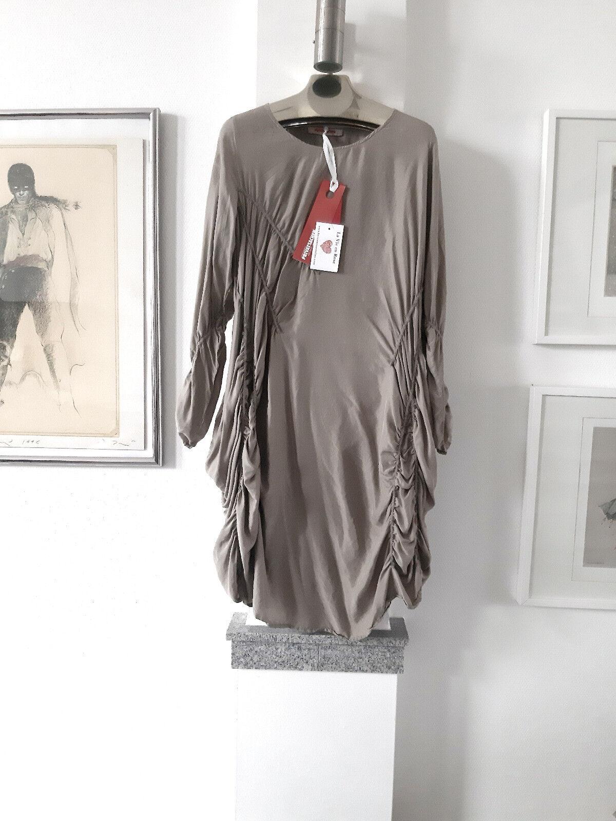 Cocon Commerz Privatsachen Kleid reine Seide  WANDLELMANDEL SILK DRESS One Größe
