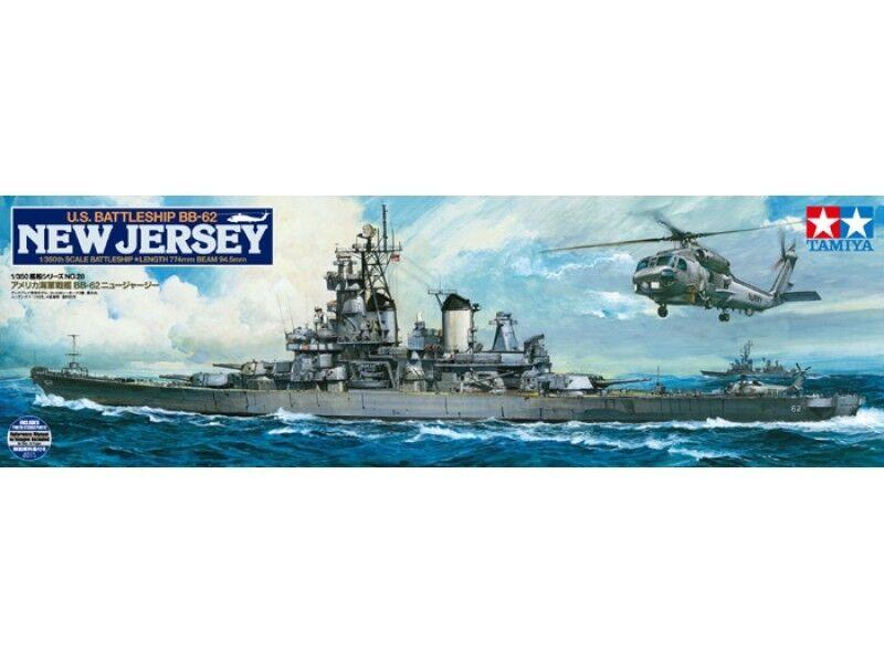 Tamiya 78028 USS New Jersey 1982 1 350 scale US Naval Battleship New Upgraded