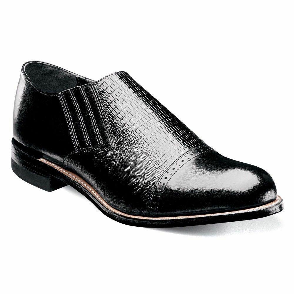 Stacy Adams Men's Madison Cap Toe Slip On Black 00067-001