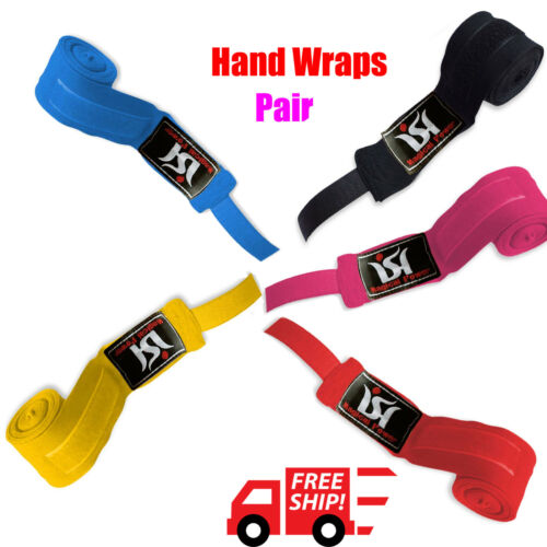 ISH Hand Wraps Boxing Bandages Wrist Protecting Fist MMA Punching Inner Gloves