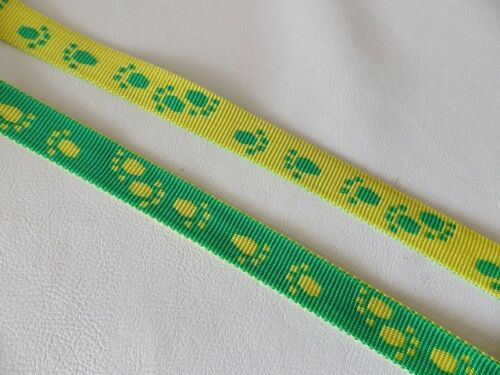 Strapping Paw Print Design 5 colours 5m x 20mm Reversible Polyprop Webbing