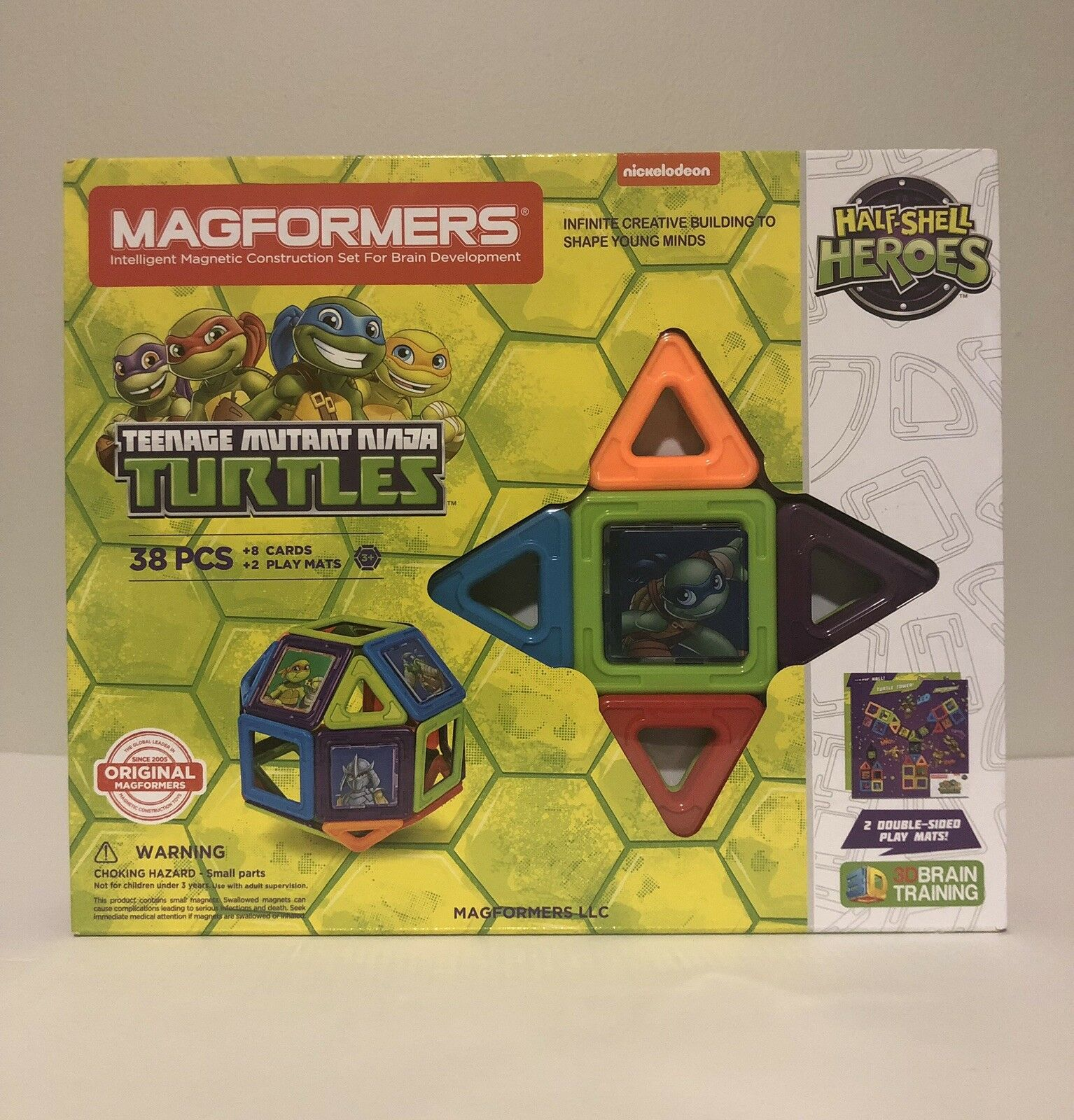 Magformers Teenage Mutant Ninja Turtles Half Shell Heroes, 38 Piece Set