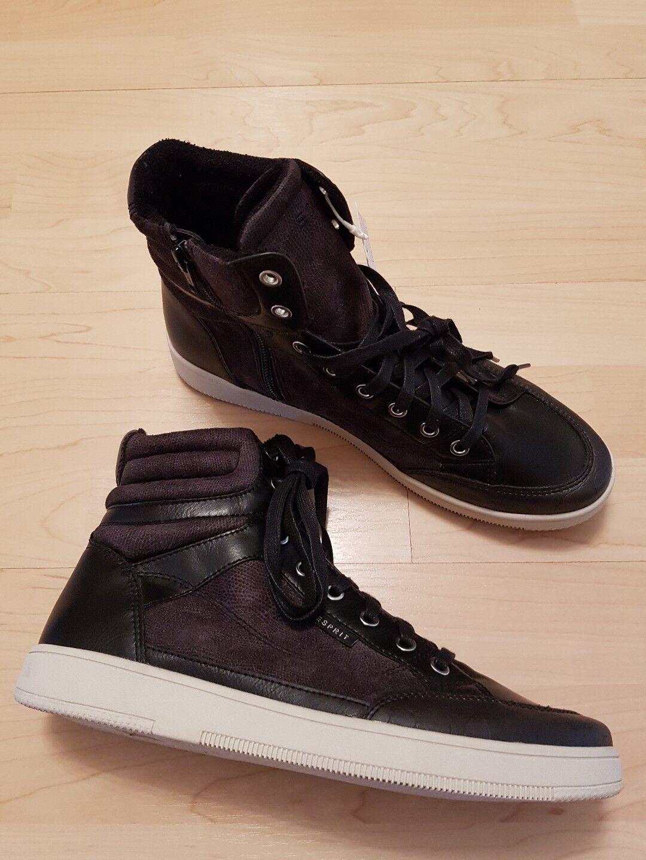 tolle Schuhe Herrenschuhe Esprit Gr 40 - 42 Farbe m  schwarz Vegan neu m Farbe Etikett 2793b4