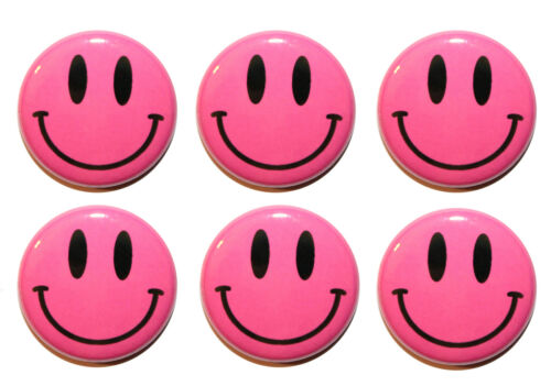 Gifts /& Kitchen 25mm Mini Smiley Face Circle Fridge Magnets MADE IN UK