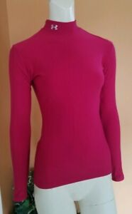 Under-Armour-Coldgear-Base-Layer-Fitted-Mock-Shirt-Women-039-s-Size-M-EUC