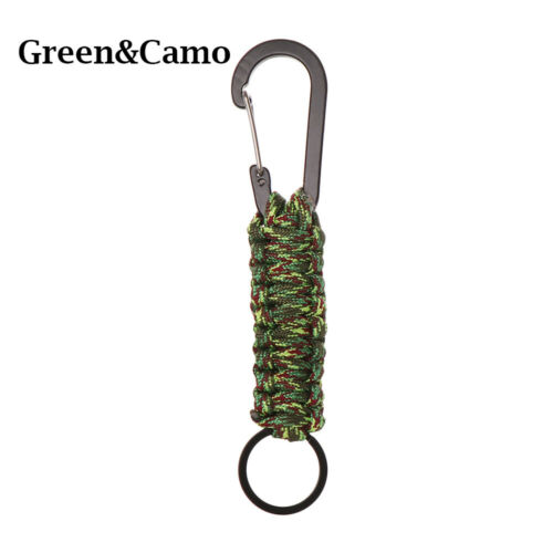 Rings Emergency Rope Carabiner Paracord Cord Keychain Outdoor Camping Keyring
