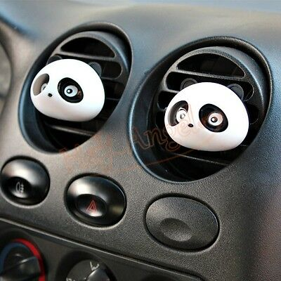 2xOriginal Panda Car Perfume Air Freshener Auto Decoration Detailing Accessories