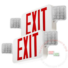 2pack Red All Led Exit Sign Emergency Light Square Head Combo Ul924 Combor2