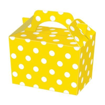 Spotty Food Loot Lunch Cardboard Gift 10 Black Polka Dot Party Boxes