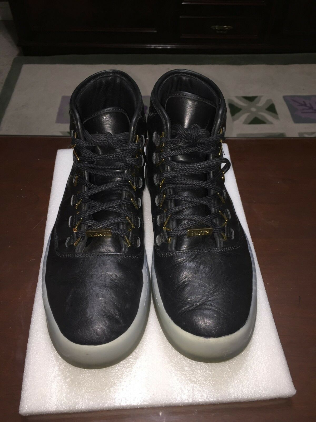 Nike Air Jordan Westbrook 0 (Zero) Why Not (Size 10) Men's Black Leather Ostrich