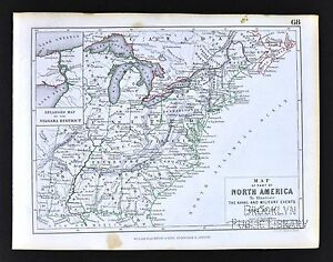 Map Of America In 1812.1850 Johnston Military Map North America United States War Of 1812