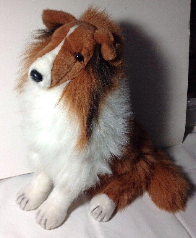 Lassie Sitting-Up Plush Large Dog  By Gund 1989  19' Tall 18  depth