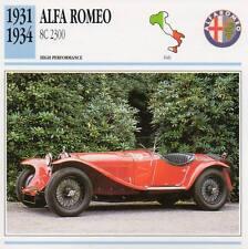 1931-1934 ALFA ROMEO 8C 2300 Classic Car Photo/Info Maxi Card