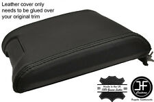 BLACK STITCHING SLIDING ARMREST REAL LEATHER COVER FITS BMW E39 1996-2003
