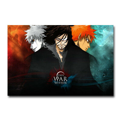 Bleach Kurosaki ichigo Hot Anime Art Canvas Poster Print 12x18 24x36 inch
