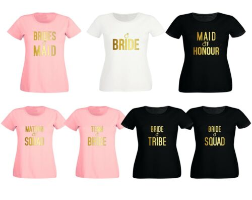 New Women/'s Ladies Hen Party Wedding Bride Girls Night Outs Group T Shirts 9